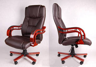 Офисное массажное кресло PRESIDENT коричневое, фото 2