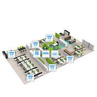 IP видеонаблюдение 6 камер (4Мп) для соц. инфраструктуры