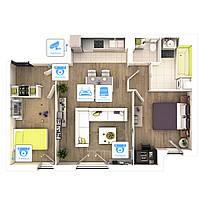Видеонаблюдение AHD 2Мп 4 камеры для квартиры