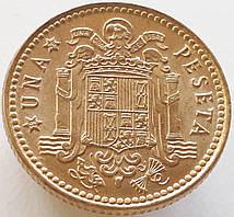 Испания 1 песета 1975