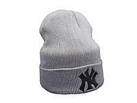 Серая шапка New York (реплика)