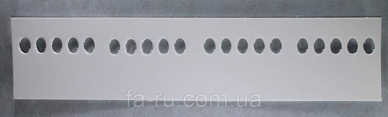 Органайзер для нити мулине картонный, 20 мест на палитре, размер 270х50 мм