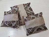 Комплект подушек Корона шоколад с бежем 3шт