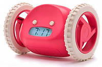 Убегающий будильник Clocky, розовый, фото 1