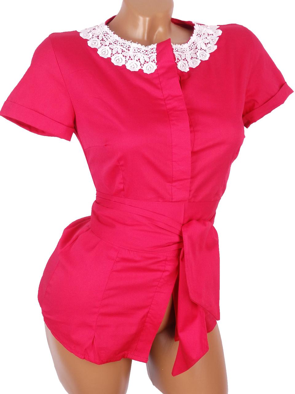 Изящные женские блузы с пояском 40р