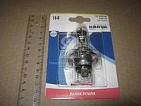 Лампа накаливания H4 12V 60/55 W P43t RANGE POWER +30 blister (пр-во Narva) 48878B1