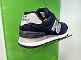 Жіночі кросівки New balance 574 blue, фото 3