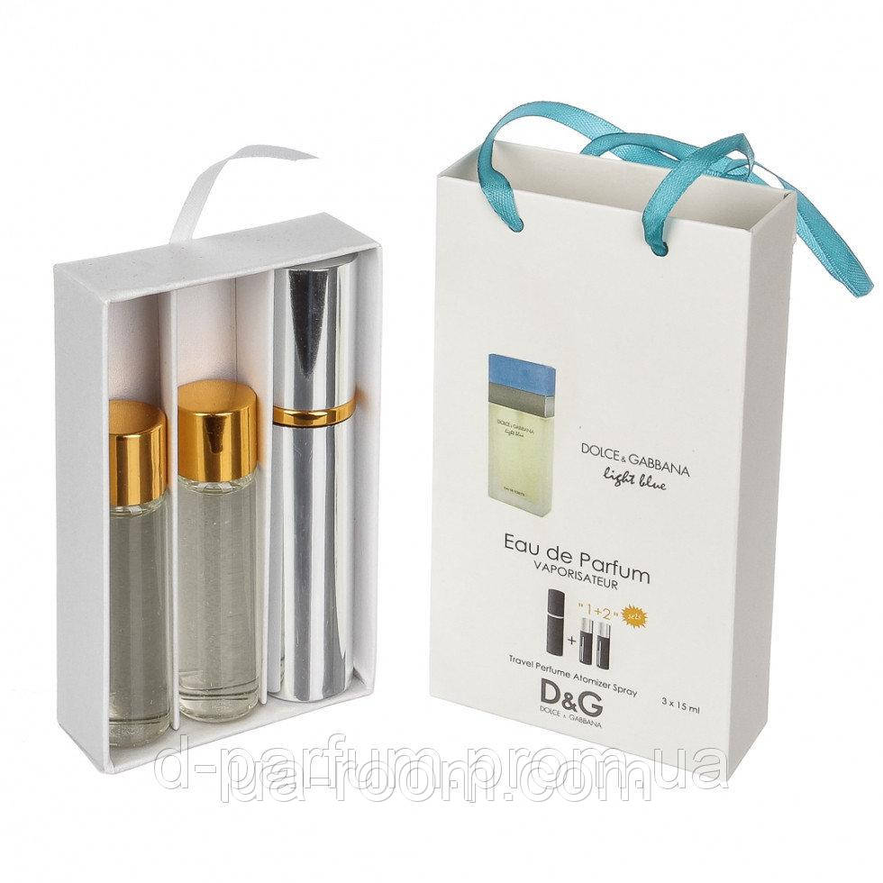 Мини-парфюм женский Dolce & Gabbana Light Blue Woman, 3х15 мл