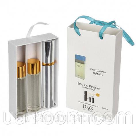 Мини-парфюм женский Dolce & Gabbana Light Blue Woman, 3х15 мл, фото 2
