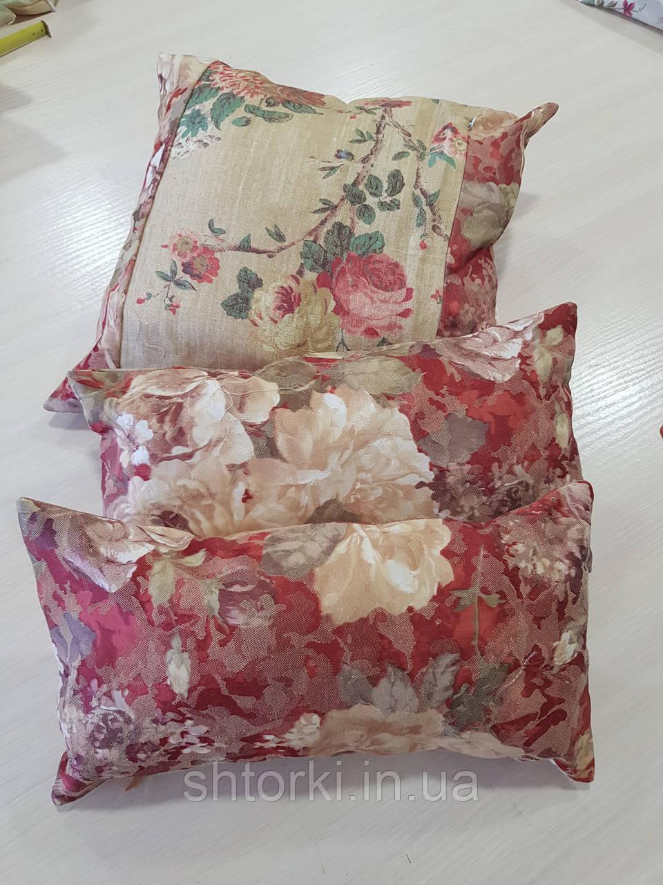 Комплект подушек цветы Терракот 3шт