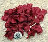 Искусственные лепестки роз марсала А-824