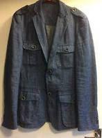 Пиджак мужской свободного стиля из натурального льна, уплотненного, цвет на выбор, осень-весна