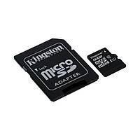 Карта памяти Kingston MicroSDHC 16GB Class 10 UHS-I + SD адаптер (SDC10G2/16GB)
