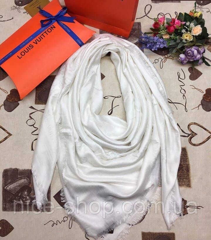 Платок Louis Vuitton белый, фото 2
