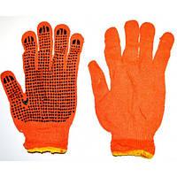 Перчатки х/б с точкой оранжевые