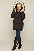 Женская стеганная куртка с мехом на капюшоне 69KU110, фото 1