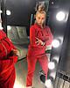 Трикотажный женский спортивный костюм с надписью 18SP429