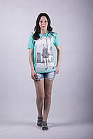 Трикотажная женская футболка  р.44-52