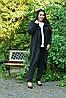 Трикотажный легкий женский кардиган на запах в батале 10BR985