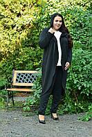 Трикотажный легкий женский кардиган на запах в батале 10BR985, фото 1