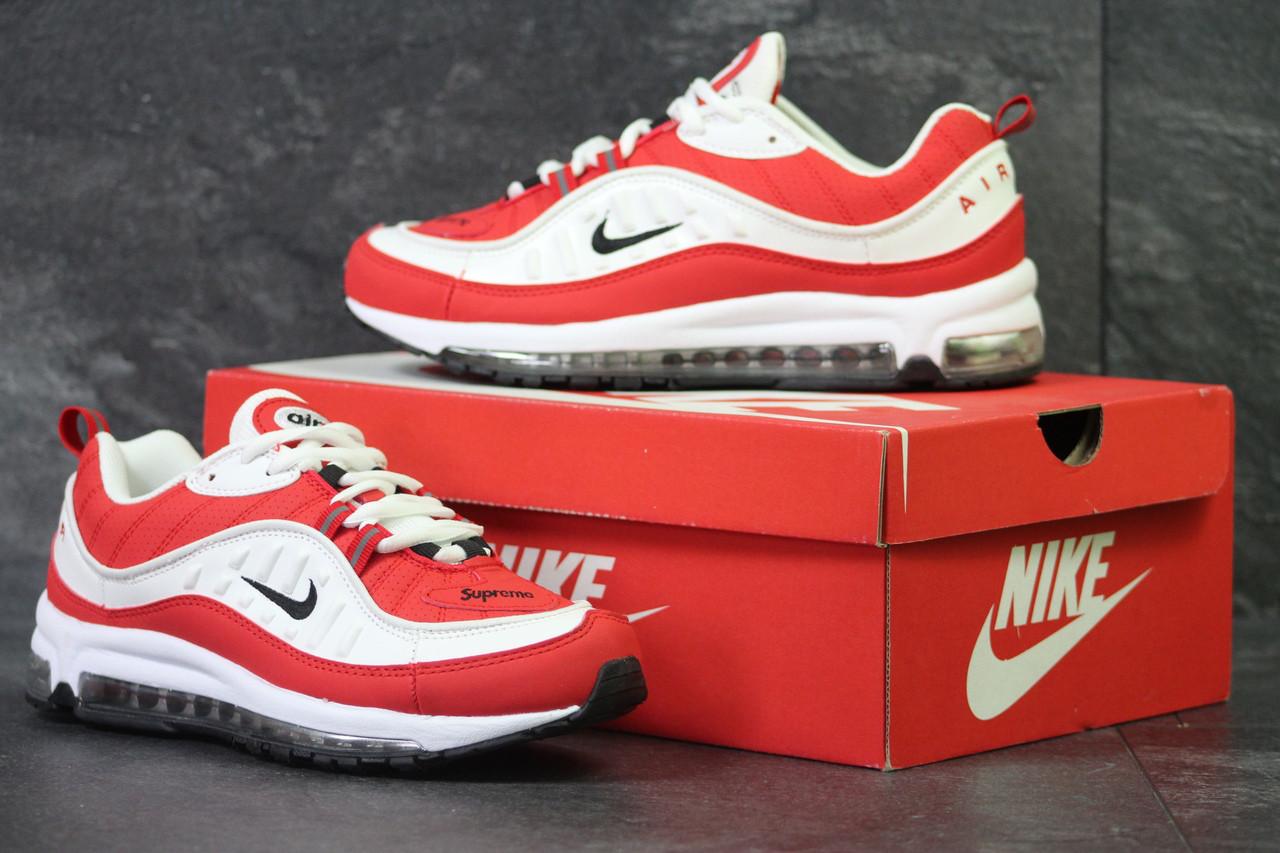 b315806d Кроссовки в стиле Nike Air Max 98 x Supreme (белые с красным) код товара ...