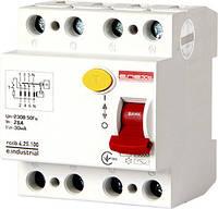Выключатель дифференциального тока e .industrial.rccb.4. 25.100.4p,25А,100mA