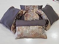 Комплект подушек шоколад Корона плюш 4шт, фото 1