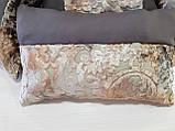 Комплект подушек шоколад Корона плюш 4шт, фото 2