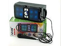 NNS NS-1503bt 10W, Bluetooth активная колонка-чемодан  FM MP3 с караоке и микрофоном, черная