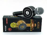 Wster WS-668 Karaoke, микрофон с караоке и светомузыкой, черный