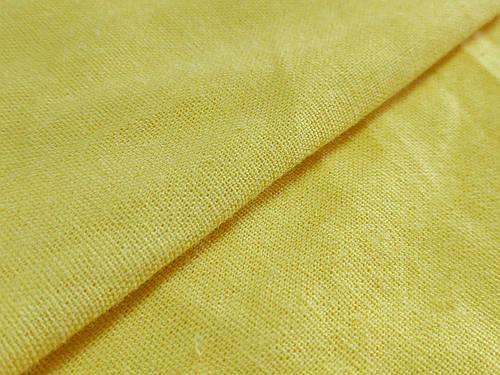 Ткань лен однотонный, желтый