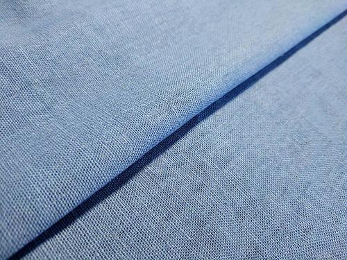 Ткань лен однотонный, серый джинс