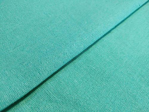Ткань лен однотонный, бирюзовый