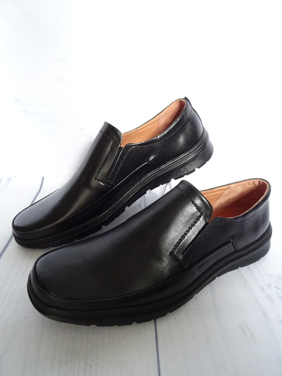 Мужские Черные Туфли Из Натуральной Кожи — в Категории