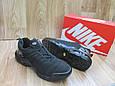Мужские Кроссовки в стиле  Nike Air Max Тn черные нубук, фото 2