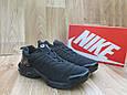 Мужские Кроссовки в стиле  Nike Air Max Тn черные нубук, фото 3