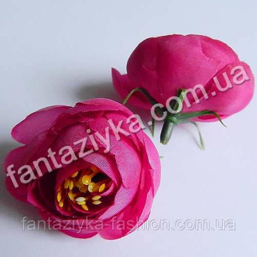 Цветок ранункулюса крупный 40мм, пурпурный