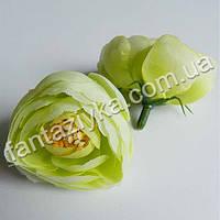 Цветок ранункулюса крупный 40мм, салатовый
