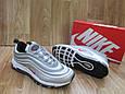 Мужские Кроссовкив стиле  Nike Air Max 97 серые кожа и сетка рефлектив, фото 2
