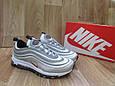 Мужские Кроссовкив стиле  Nike Air Max 97 серые кожа и сетка рефлектив, фото 4