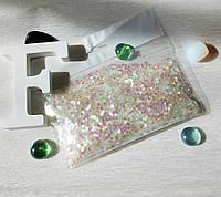 Конфетти для воздушных шаров шестиугольник хамелеон розовый 50 грамм, фото 1