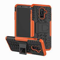 Чехол Samsung A605 / A6 Plus / A6 Plus 2018 противоударный бампер оранжевый