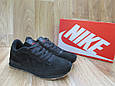 Мужские Кроссовки в стиле  Nike Air замша черные, фото 2