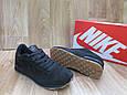 Мужские Кроссовки в стиле  Nike Air замша черные, фото 3
