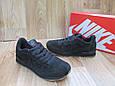 Мужские Кроссовки в стиле  Nike Air замша черные, фото 5