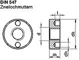 DIN 547 - нержавеющая гайка круглая с шлицевыми отверстиями, фото 4