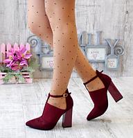 Женские туфли ботильоны на каблуке