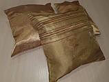 Комплект подушек  стелла с полоской золото 3шт, фото 4