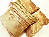 Комплект подушек  стелла с полоской золото 3шт, фото 5