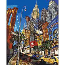 """Раскраска по номерам Холст """"Вулицями Нью-Йорка"""" 40*50 см КНО2172 Идейка"""